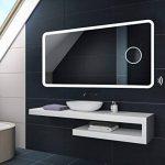100 x 60 cm Illumination LED miroir sur mesure eclairage salle de bain | CAPTEUR D'ACTIVATION + MIROIR GROSSISANT de la marque FORAM image 2 produit