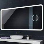 100 x 60 cm Illumination LED miroir sur mesure eclairage salle de bain | CAPTEUR D'ACTIVATION + MIROIR GROSSISANT de la marque FORAM image 4 produit