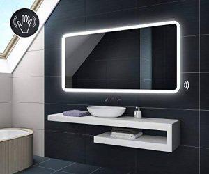120 x 80 cm Illumination LED miroir sur mesure eclairage salle de bain   CAPTEUR D'ACTIVATION de la marque FORAM image 0 produit