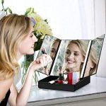 Abody Miroir Maquillage LED Miroir Lumineux Miroir cosmétique avec en Boîte Luminosité Réglable Loupe 7X Grossissant de la marque Abody image 4 produit