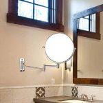 ALHAKIN 1 / 10X Miroir Mural 8 Pouces Miroir De Maquillage Fini Chrome Dans Salle De Bains de la marque ALHAKIN image 1 produit
