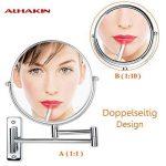ALHAKIN 1 / 10X Miroir Mural 8 Pouces Miroir De Maquillage Fini Chrome Dans Salle De Bains de la marque ALHAKIN image 4 produit