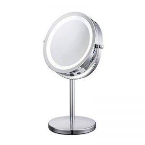 ALHAKIN - Miroir de table avec lumière LED 1/10X - Miroir de cosmétique - 17,8cm de la marque ALHAKIN image 0 produit