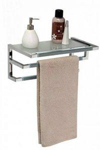 Allibert - Série Vogue - Meuble salle de bains - Porte-serviettes mural - Coloris gris - 513 de la marque Allibert image 0 produit