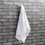Ambrosya® | Porte-serviettes exclusif avec deux crochets en acier inoxydable | Salle de bains Crochet Support Serviette Porte-Manteau Crochets (Acier inoxydable (Brossé)) de la marque Ambrosya image 3 produit