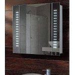 Anaelle Pandamoto Armoire de Toilette à MiroirEclairage Lumineux LED Intégré + 1 Porte sur Salle de Bain, Taile: 600 * 110 * 600mm, Poids: 15kg, Blanc de la marque Panana image 2 produit