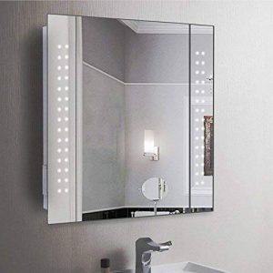Anaelle Pandamoto Armoire de Toilette à MiroirEclairage Lumineux LED Intégré + 1 Porte sur Salle de Bain, Taile: 600 * 110 * 600mm, Poids: 15kg, Blanc de la marque Panana image 0 produit