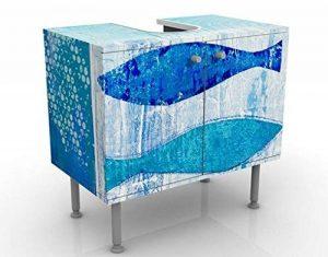Apalis Vanité Poisson dans Le Bleu 60x 55x 35cm, Petite, 60cm de Large, réglable, lavabo, Meuble de Salle de Bain, lavabo, Armoire, unité de Base, DE Salle DE Bain, étroit, Plat de la marque Apalis image 0 produit