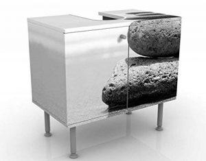Apalis Vanité Sand Stones No. 260x 55x 35cm, petite, 60cm de large, réglable, lavabo, Meuble de salle de bain, lavabo, armoire, unité de base, DE SALLE DE BAIN, étroit, plat de la marque Apalis image 0 produit