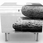 Apalis Vanité Sand Stones No. 260x 55x 35cm, petite, 60cm de large, réglable, lavabo, Meuble de salle de bain, lavabo, armoire, unité de base, DE SALLE DE BAIN, étroit, plat de la marque Apalis image 1 produit