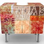 Apalis WTD Meuble design lavabo Motif écritures antiques inversé latéralement en miroir 60 x 55 x 35 cm de la marque Apalis image 1 produit