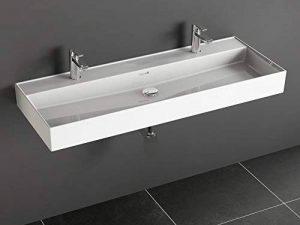 Aqua Bagno Loft Air Lavabo moderne double en céramique 120 cm de la marque Aqua Bagno image 0 produit
