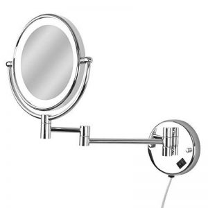 Aquamarin - Miroir Cosmétique Double Face Mural Grossissant x7 Lumineux LED Orientable (Modèle au Choix) de la marque Aqua Marin® image 0 produit