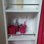 Armoire Colonne Pivotante de Salle de Bain - 6 Niches + 2 Miroirs + 2 patères - Coloris BLANC de la marque TENDANCE image 4 produit