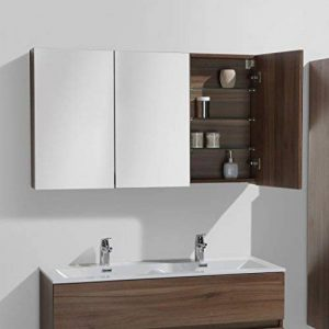 Armoire de toilette bloc-miroir SIENA largeur 120 cm, noyer de la marque Le Monde du Bain image 0 produit