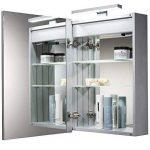 Armoire de toilette pour salle de bain avec lampe LED sur le dessus, antibuée, prise pour rasoir, détecteur de mouvement 70cm(H) x 50cm(l) x 15cm(P) C25 de la marque Neue Design image 2 produit