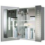 Armoire de toilette pour salle de bain avec miroir lumineux, antibuée, prise pour rasoir, détecteur de mouvement et éclairage LED 60cm(H) x 65cm(l) x 12cm(P) C19 de la marque Neue Design image 2 produit