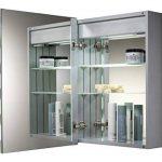 Armoire de toilette pour salle de bain avec miroir lumineux, antibuée, prise pour rasoir, détecteur de mouvement et éclairage LED 70cm(H) x 50cm(l) x 15cm(P) C17 de la marque Neue Design image 2 produit