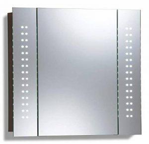 Armoire de toilette pour salle de bain avec miroir lumineux, antibuée, prise pour rasoir, détecteur de mouvement et éclairage LED 60cm(H) x 65cm(l) x 12cm(P) C19 de la marque Neue Design image 0 produit