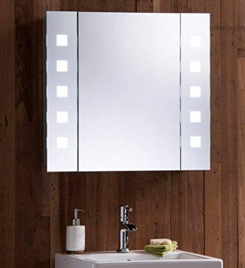 Maison Galdem Armoire à miroir Elegance 70 cm DEL Éclairage ...