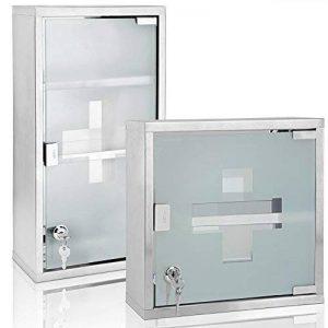 Armoire à pharmacie, armoire à médicaments, premier secours avec clés petit de la marque Deuba image 0 produit