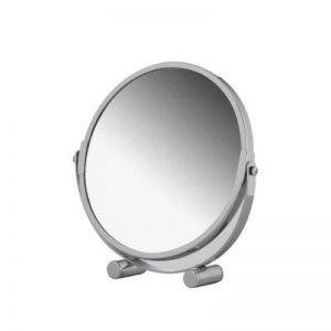 axentia Miroir Cosmétique Grossissant 3x, Miroir de Maquillage Rasage Double Face, Miroir à Poser Chromé Ø 17 cm, Miroir sur Pied Pivotant à 360° pour Salle de Bain de la marque axentia image 0 produit