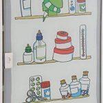 Bagnoxx Armoire a pharmacie avec porte vitree et imprime, trousse de premier secours Blanc STK de la marque Bagnoxx image 2 produit