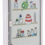 Bagnoxx Armoire a pharmacie avec porte vitree et imprime, trousse de premier secours Blanc STK de la marque Bagnoxx image 4 produit