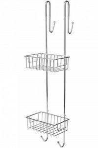 Bamodi – Etagère de douche – A poser sans percer – Solution de rangement avec 2 paniers 2 crochets 2 portes serviettes – Pour douche avec paroi ou porte vitrée – Acier chromé - (70 x 18,5 x 21 cm) de la marque Bamodi image 0 produit