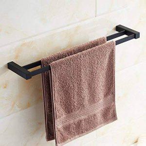 Barre porte-serviettes double Noir Couleur avec matériau en alliage de zinc Brathroom Serviette étagère Kelelife de la marque Kelelife image 0 produit