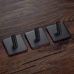 BasicForm Crochet Adhésif 3M Puissant Acier Inoxydable Aucune Trace Noir (1-Crochet x 3 Pièces) de la marque BasicForm image 1 produit