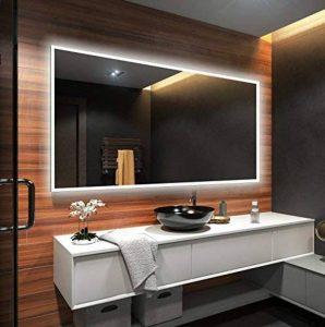 Beau Miroir Salle De Bain Lumineux LED 100x80cm de la marque FORAM image 0 produit