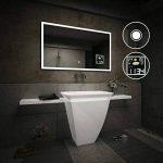 Beau Miroir Salle De Bain Lumineux LED Interrupteur tactile et Station météo de la marque FORAM image 2 produit