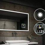 Beau Miroir Salle De Bain Lumineux LED Interrupteur tactile et Station météo de la marque FORAM image 3 produit