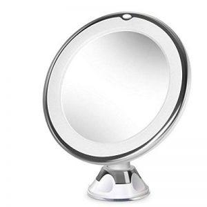 Beautural Miroir de Maquillage Grossissant Lumineux 10x LED avec 1 Joint à Bille et Ventouse, 360 Rotation Ajustable, Fonctionne avec des Piles de la marque BEAUTURAL image 0 produit