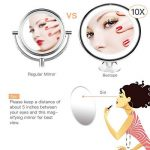 Bestope miroir maquillage grossissant 10x Lumineux,16 LED, 360°rotation ajustable,fonctionnant sur piles,miroir de salle de bain portable lumineux sans fil Blanc de la marque BESTOPE image 1 produit