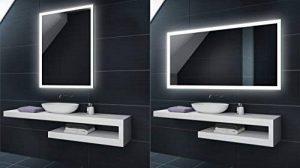 Blanc Froid 80 x 60 cm | Verticale / Horizontale Illumination LED miroir sur mesure eclairage salle de bain | Mural Lumineux Miroir de la marque FORAM image 0 produit