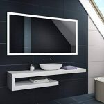 Blanc Froid 80 x 60 cm | Verticale / Horizontale Illumination LED miroir sur mesure eclairage salle de bain | Mural Lumineux Miroir de la marque FORAM image 2 produit