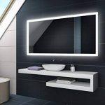 Blanc Froid 80 x 60 cm | Verticale / Horizontale Illumination LED miroir sur mesure eclairage salle de bain | Mural Lumineux Miroir de la marque FORAM image 3 produit