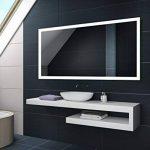 Blanc Froid 80 x 60 cm | Verticale / Horizontale Illumination LED miroir sur mesure eclairage salle de bain | Mural Lumineux Miroir de la marque FORAM image 4 produit