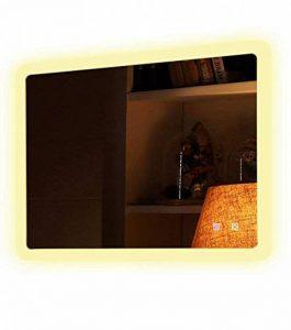 Bon Bain France Miroir éclairant LED capteur Sensitive Anti-buée indépendant Coloris Froid Chaud Frida 60 70 80 100 120 cm (Chaude, 60_x_40_cm) de la marque Bon Bain France image 0 produit