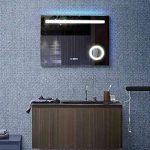 Bon Bain France Miroir Salle de Bains LED Anti buée Robo Horloge Petit Miroir éclairant grossissant 80 cm 100 cm 120 cm 150 cm (100_x_60_cm) de la marque Bon Bain France image 4 produit