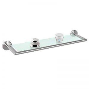 bremermann® Tablette en verre en inox mat et verre - gamme pour salle de bains PIAZZA de la marque bremermann® image 0 produit