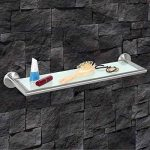 bremermann® Tablette en verre en inox mat et verre - gamme pour salle de bains PIAZZA de la marque bremermann® image 1 produit