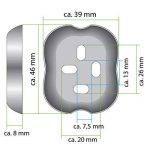 bremermann® Tablette en verre en inox mat - gamme pour salle de bains PIAZZA de la marque bremermann® image 4 produit