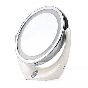 BROADCARE Miroir Maquillage Miroir de Table Lumineux 5X /1X LED Double Face Miroir pour Cosmétique Chambre Rasage … de la marque BROADCARE image 0 produit