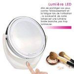 BROADCARE Miroir Maquillage Miroir de Table Lumineux 5X /1X LED Double Face Miroir pour Cosmétique Chambre Rasage … de la marque BROADCARE image 2 produit