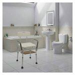 Cablematic Chaise de Douche Réglable en Hauteur de l'accoudoir pour Les Personnes Gées de la marque Cablematic image 1 produit