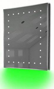 éclairé miroirs Leon ambiante rasoir LED Miroir de salle de bain avec système antibuée et capteur, Vert de la marque Diamond X Collection image 0 produit