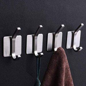 Crochet Adhesif Crochets de Mur -CEINTER 3M Adhésif Inox Serviette Porte Serviettes Crochets pour Serviettes de Bain Muraux Imperméables pour Ustensiles de Cuisine,Robe,Manteau,Clés 4 Pièces de la marque CEINTER image 0 produit